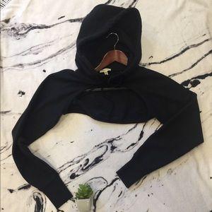 Silence and noise black bolero hoodie